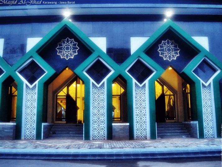 arsitektur Masjid Al-Jihad - Karawang Jawa Barat