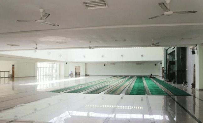 interior Masjid Agung Al-A'Raf Rangkasbitung