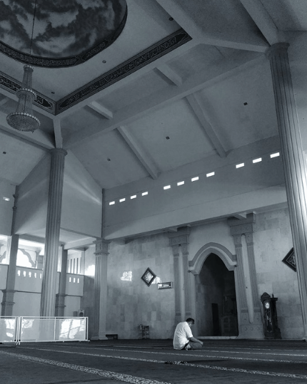 interior Masjid Agung Al-Mabrur