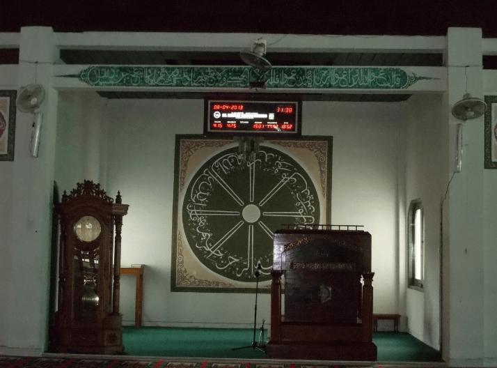 interior Masjid Agung Dr. Wahidin Soedirohoesoedo