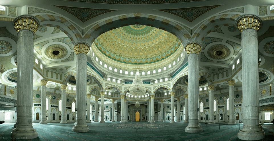 interior Masjid Hazrat Sultan – Astana, Kazakhstan