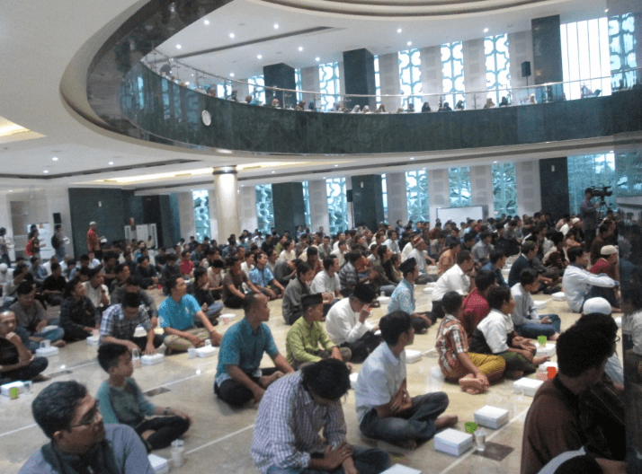 interior Masjid Islamic Center Ahmad Dahlan Yogyakarta