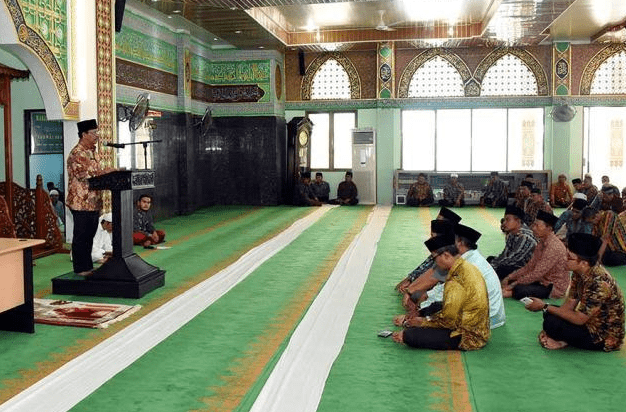 interior Masjid Istiqomah Bengkalis