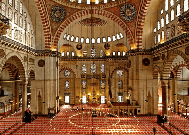 interior Masjid Mimar Sinan – Istanbul, Turki