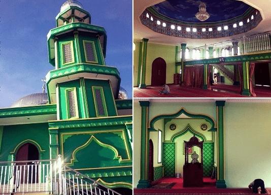interior Masjid Raya Al-Amin Dolok