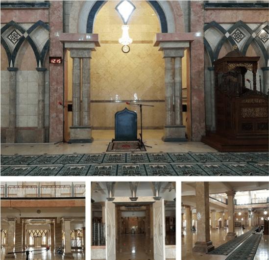 interior masjid raya al aqsa