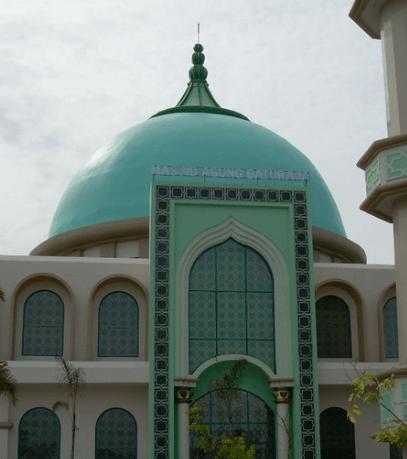 kubah masjid Islamic Centre Baturaja Kabupaten OKU