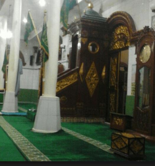 mimbar Masjid Besar Al-Mahmudiyah Palembang