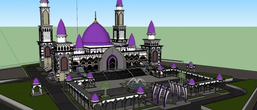 plan Masjid Kubah Kecubung, Palangkaraya