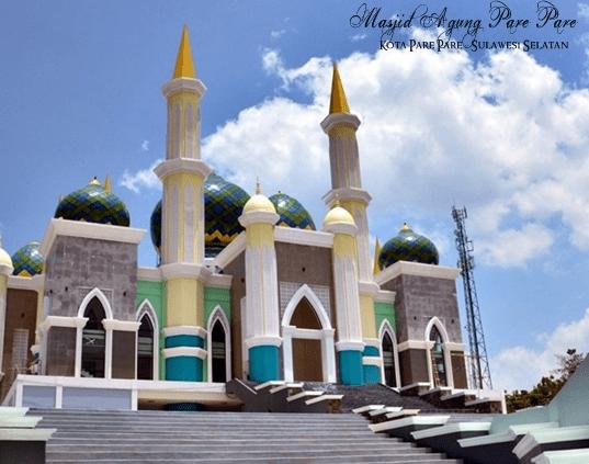 ampak depan Masjid Agung A.G KH. Abdul Rahman – Ambo Dalle, Kota Pare-Pare