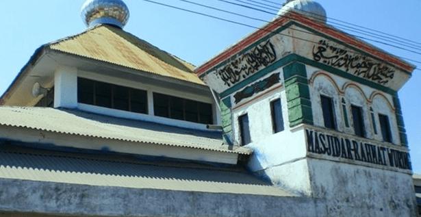 tampak samping Masjid Ar-Rahmat Wuring