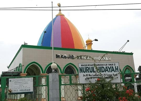 Masjid 'Kubah Pelangi' Nurul Hidayah Palembang