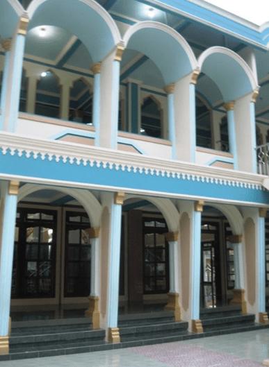arsitektur Majid Jami' Al-Mujahidin – Kebon Kopi, Cikarang Utara