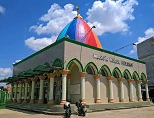arsitektur Masjid 'Kubah Pelangi' Nurul Hidayah Palembang