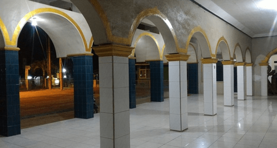 arsitektur Masjid Besar Ghoyatul Jihad - Masjid Sang Pengibar Bendera Pusaka Sejati