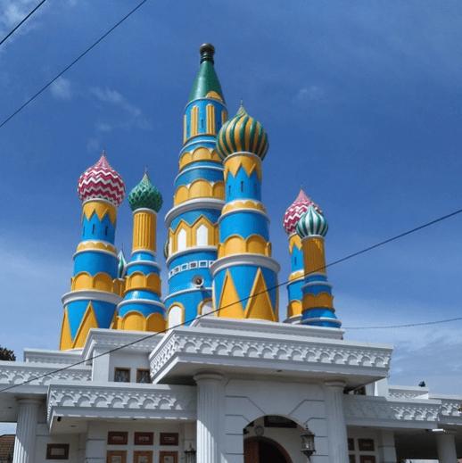 arsitektur kubah Masjid 'Kubah Pelangi' An-Nurumi Candisari