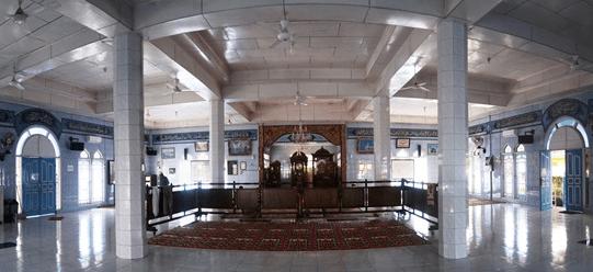 interior Masjid Al-Ihsan Kota Kayu Sumatera Selatan