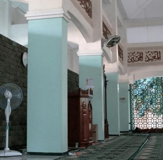 interior Masjid Al-Mujahiddin, Jababeka, Cikarang