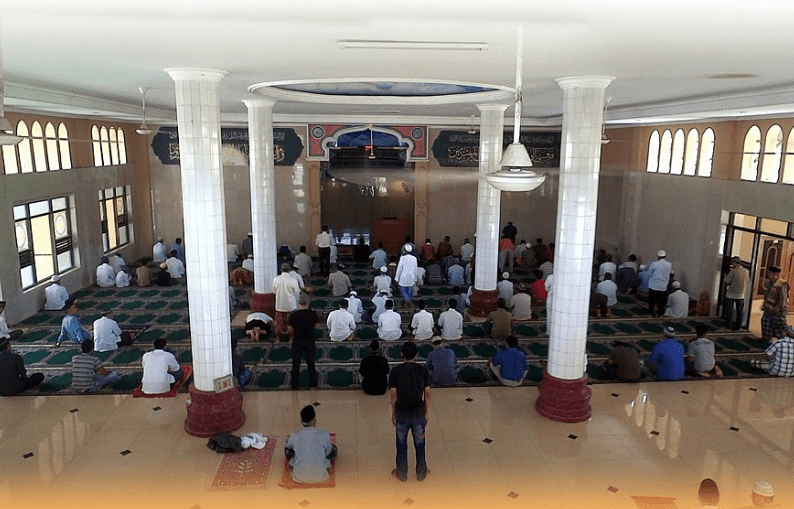 interior Masjid An-Nur, Komplek PonPes Albarkah II, Lemah Abang