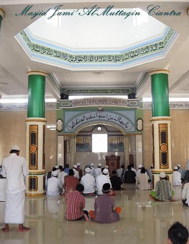 interior Msjid Jami' Al-Muttaqin, Pegaulan, Cikarang
