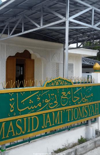 tampak depan Masjid Jami Tiomsyah Pasir Kupang