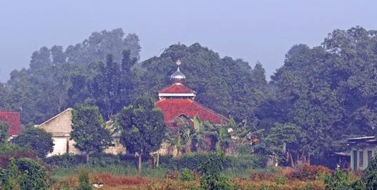 tampak jauh Masjid Jami' Baiturrohman Cikedokan