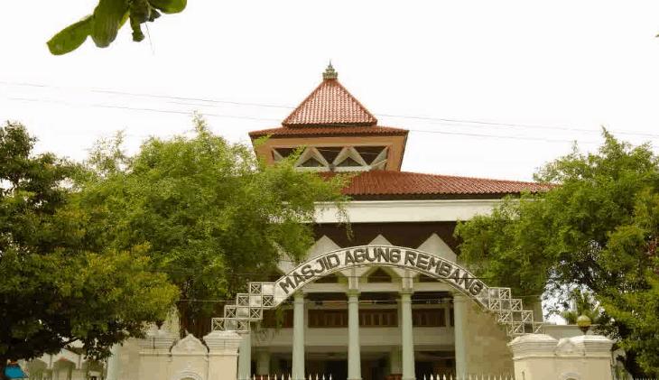 tampak depan Masjid Agung Baiturrahman Rembang